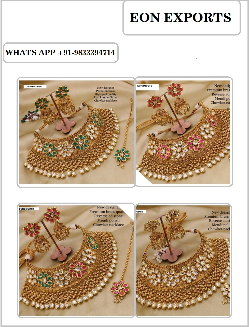 Imitation Jewellery Manufacturers Supplier Exporter Chennai